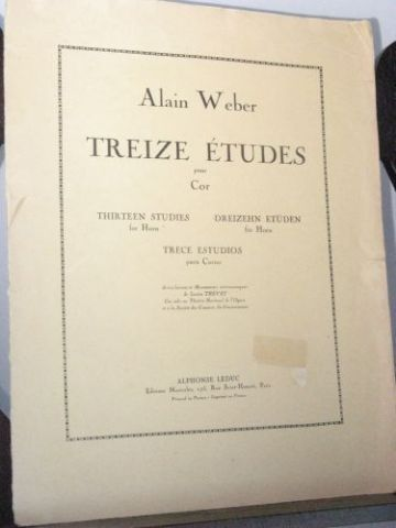 Weber A - Thirteen Studies for Horn